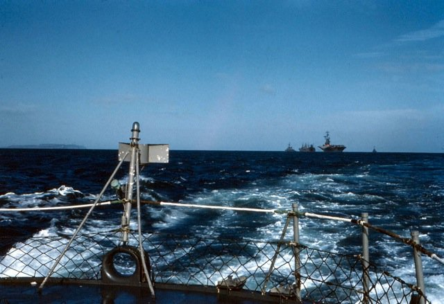 Photo - Looking Astern From USS NEW at sea carrier duty 1962
