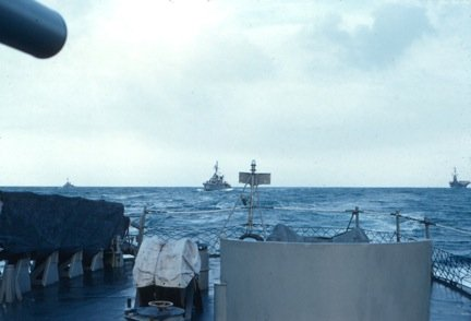 Photo - Looking Astern From USS New carrier operations 1962