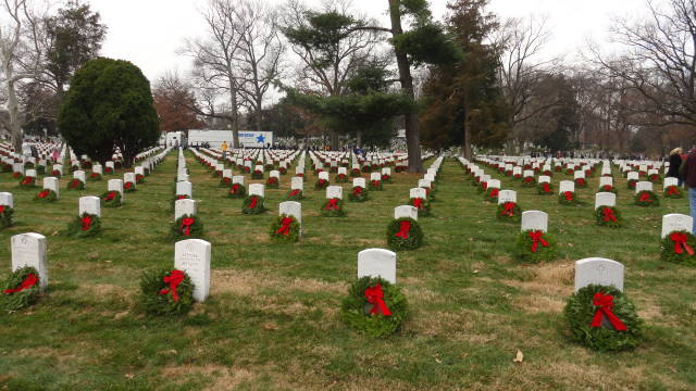 Photo - Wreaths and stones at Arlington