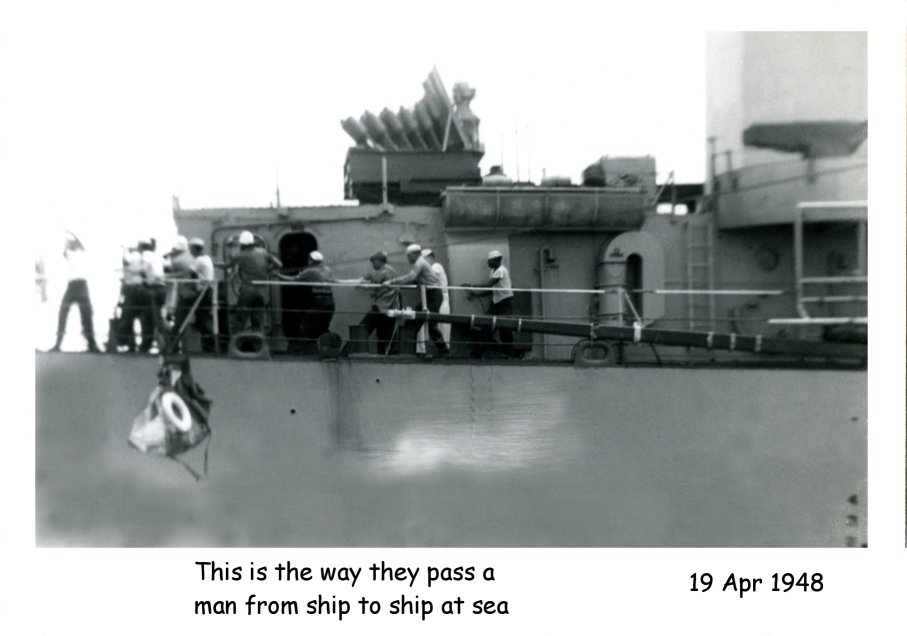 Photo - Passing a man ship to ship