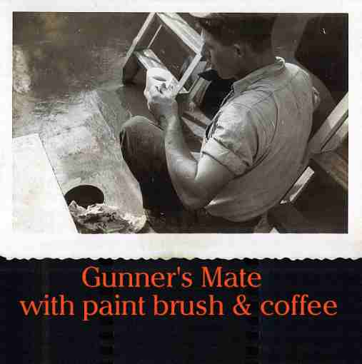 Photo - Gunner's Mate having coffee