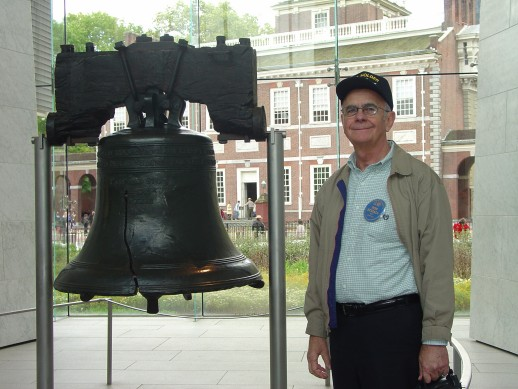 Photo - Ron Stigall at the Liberty Bell
